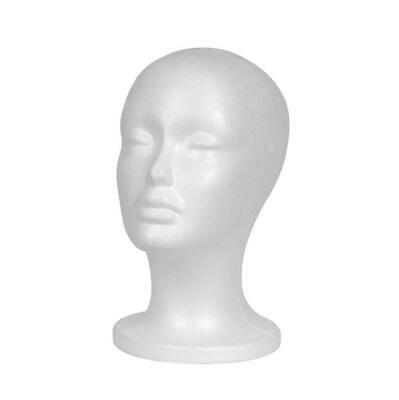 Female Foam Mannequin Head Model Hat Wig Jewelry Holder Shop Display Stand Rack