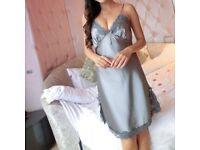 Ladies Sexy Lace Satin Lingerie Sleepwear Night Gown Babydoll Dress Nightie Robe £10 FREE PP