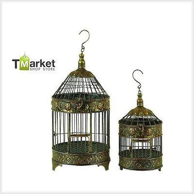 Iron Metal Wall Art Vintage BIRDCAGES Outdoor Antique Hanging Garden Bird Cage 2