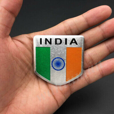 India Indian Shield Flag Car Emblem Badge Motorcycle Gas Tank Sticker Decals