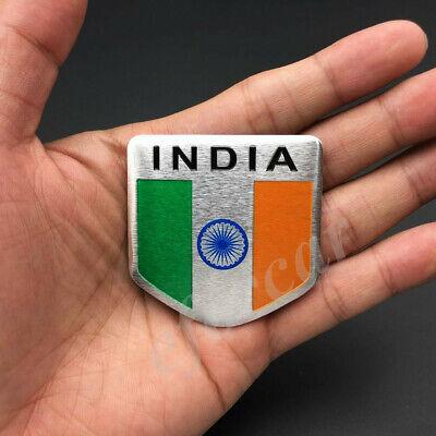 India Indian Shield Flag Car Emblem Badge Motorcycle Gas Tank Sticker Decal