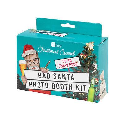 Bad Santa Photo Booth Kit Party Props 26 Props & Disguises Fun Xmas  ()