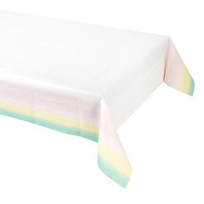 We Heart Pastels Pink Paper Table Cloth, Birthday Party Table Cover (Pink Paper Tablecloths)