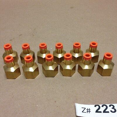 Lot Of 24 Smc Kq2f07-36 Brass Fitting 14 Female Connectors