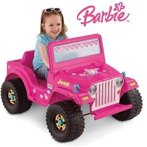NEW* FISHER-PRICE 6V BARBIE JEEP RIDE ON - RIDE-ON KID'S TOY Fisher-Price Power Wheels Barbie Jeep 6V 105447552