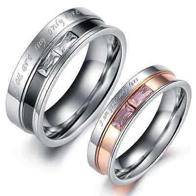 Titanium Steel Promise Love Romantic