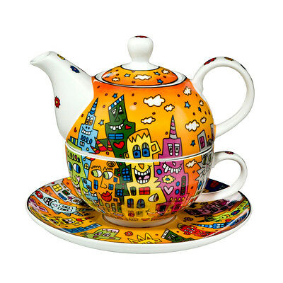 "RIZZI by GOEBEL ""Tea for one"" NEU/OVP Teekanne, Tasse & Untersetzer Set 26101731"