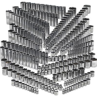 Craftsman 299 piece Deep Standard SAE Inch Metric Socket Set 1/4 3/8 1/2 Drive