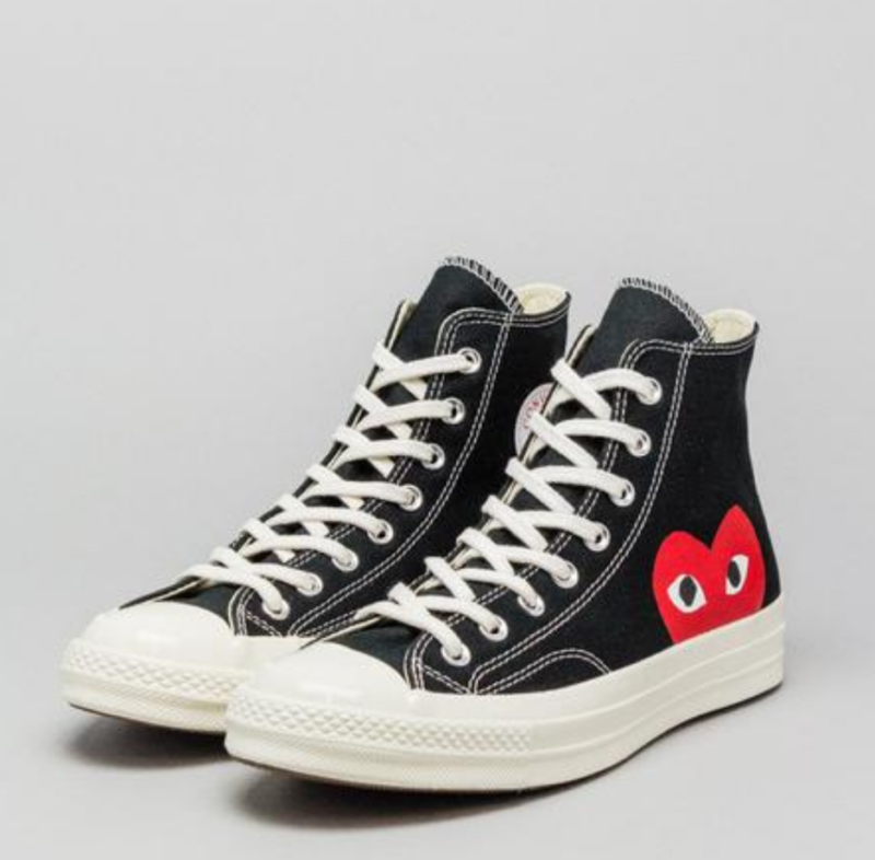 6223f878e6ec CONVERSE X COMME DES GARCONS PLAY Chuck Taylor  70 HI Black Mens Shoes 3-