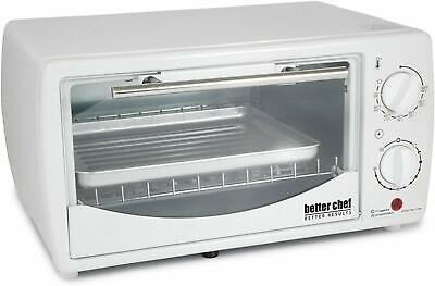 BRAND NEW Better Chef 9 Liter/4-Slice Toaster Oven Broiler White