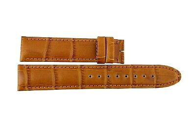 MONTBLANC CALF LEATHER HONEY ALLIGATOR GRAIN STRAP BAND MED BUCKLE 5638 (Calf Leather Honey)