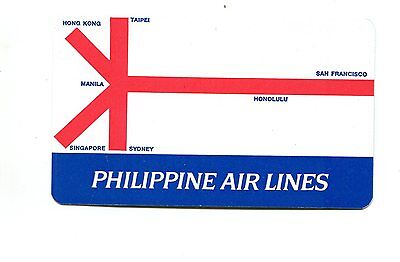 Vintage Airline Pocket Calendar Philippine Airlines Route Map 1966