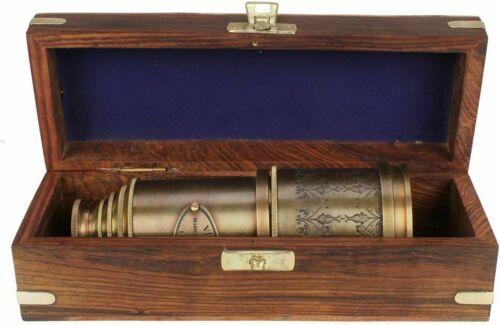 "Marine Telescope Nautical Antique Solid Brass Maritime Pirate Spyglass 20"""