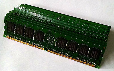 LOT OF 10 1GB RAM PC2-6400 DDR2 800MHZ DESKTOP MEMORY MAJOR BRAND WARRANTY