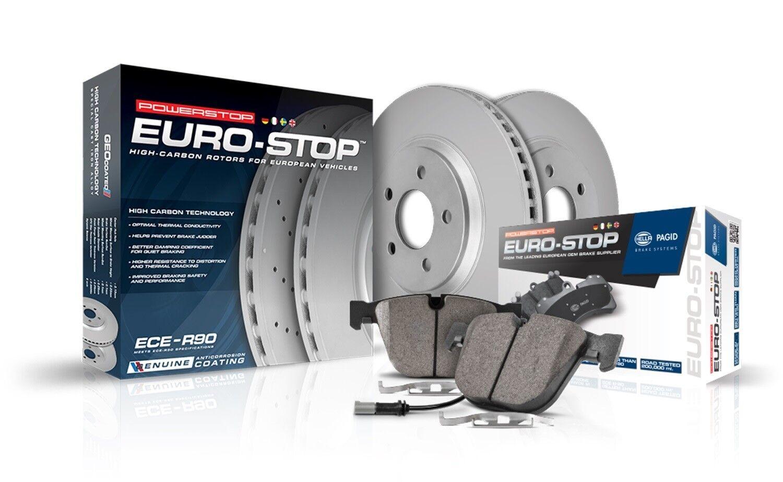 Power Stop ESK3002 Rear Euro-Stop Brake Kit BMW