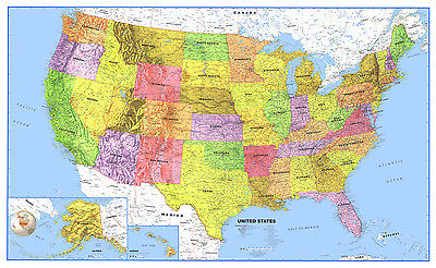 United States Usa Us Classic Wall Map Mural And Poster
