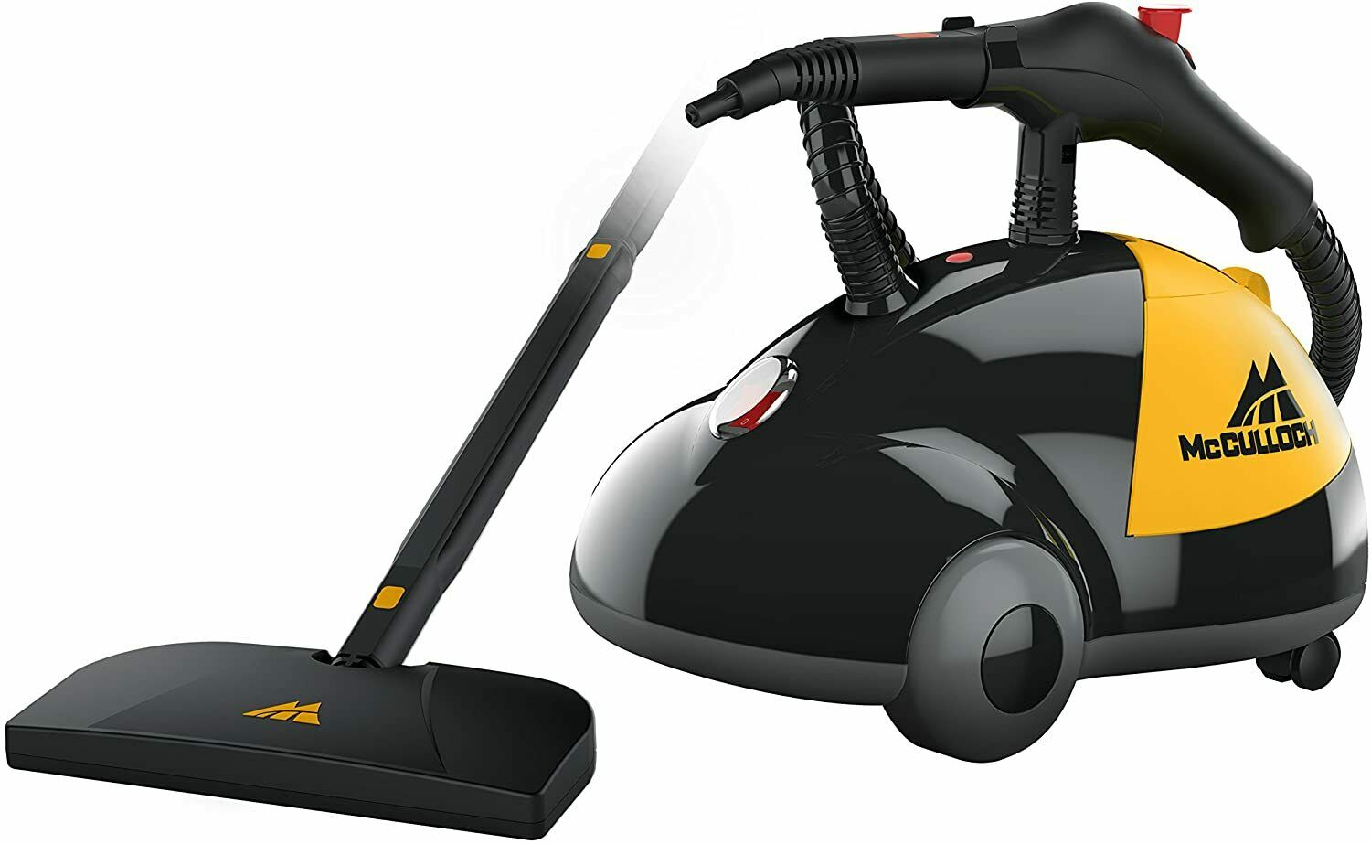 McCulloch MC1275 Heavy-Duty Steam Cleaner with 18 Accessorie