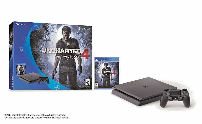 PlayStation 4 Slim Uncharted 4 500GB Bundle