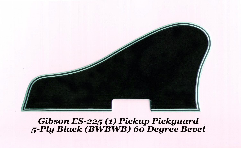 Guitars Basses Musical Instruments Guitar Fender Wiring Harness Pickup 1v2t 5 Way Switch 500k Pots Ebay Gibson Es 225 Pickguard Ply Black 1 Pu 60 Deg Bevel Vintage