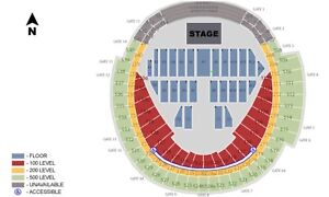 ED SHEERAN FLOOR SEATS FOR SALE - Section A8, Row 28, Seats 1&2
