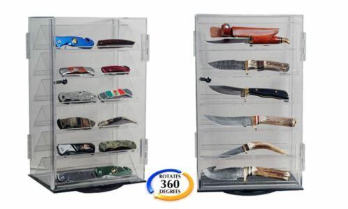 ROTATING ACRYLIC KNIFE DISPLAY