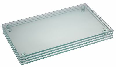 Glass Cutting Board Set by Clever Chef | 4 Non Slip Cutting Boards are Shatte... (Glass Cutting Board Set)