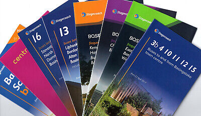 8 STAGECOACH BASINGSTOKE AREA 2017 BUS TIMETABLES