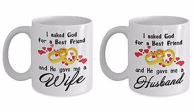 Coffee Mug Wedding Anniversary Gifts for Husband and Wife - Couple Mug Gifts ()