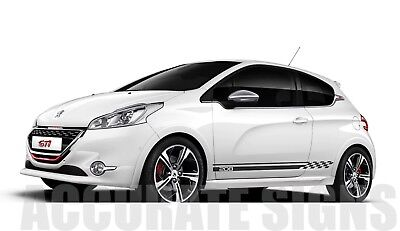 PEUGEOT 208 GT line GTi GRAPHICS SET STICKERS STRIPES CAR DECALS ANY COLOUR