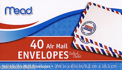 40 Airmail Letter Mailing Envelopes All Purpose Shipping 3-58 X 6-12