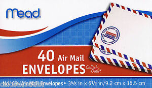 "40 Airmail Letter Mailing Envelopes All Purpose Shipping 3-5/8"" x 6-1/2"""