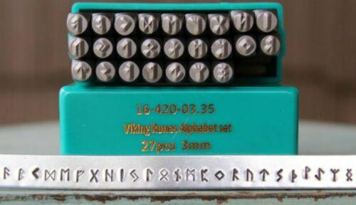 SupplyGuy 3mm 25 Stamp Viking Rune Metal Design Punch Set SGCH-Viking3mm