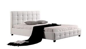 Warehouse direct Quality PU Leather Bed Black or White (EH002) Clayton South Kingston Area Preview