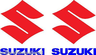 2 Aufkleber Suzuki Logo M Schriftzug Motorrad GSXR RGV RM SV Bandit
