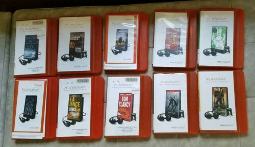 Lot of 10 playaway audio books