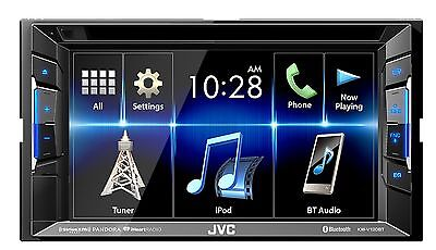 "JVC KW-V130BT 2 DIN DVD/CD Player 6.2"" LCD Android iPhone Bluetooth SiriusXM"