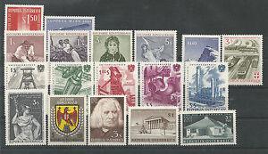 Osterreich-Jahrgang-1961-postfrisch-komplett