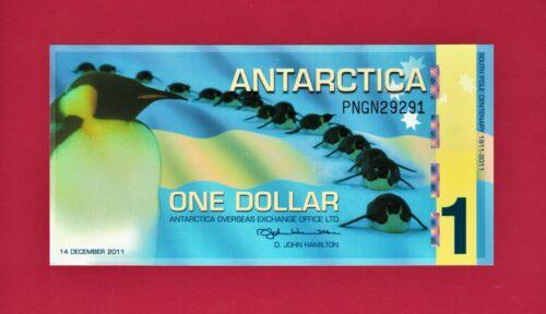 SOUTH POLE CENTENARY POLYMER UNC ONE DOLLAR ANTARCTICA-NOTE (December 14,  2011)