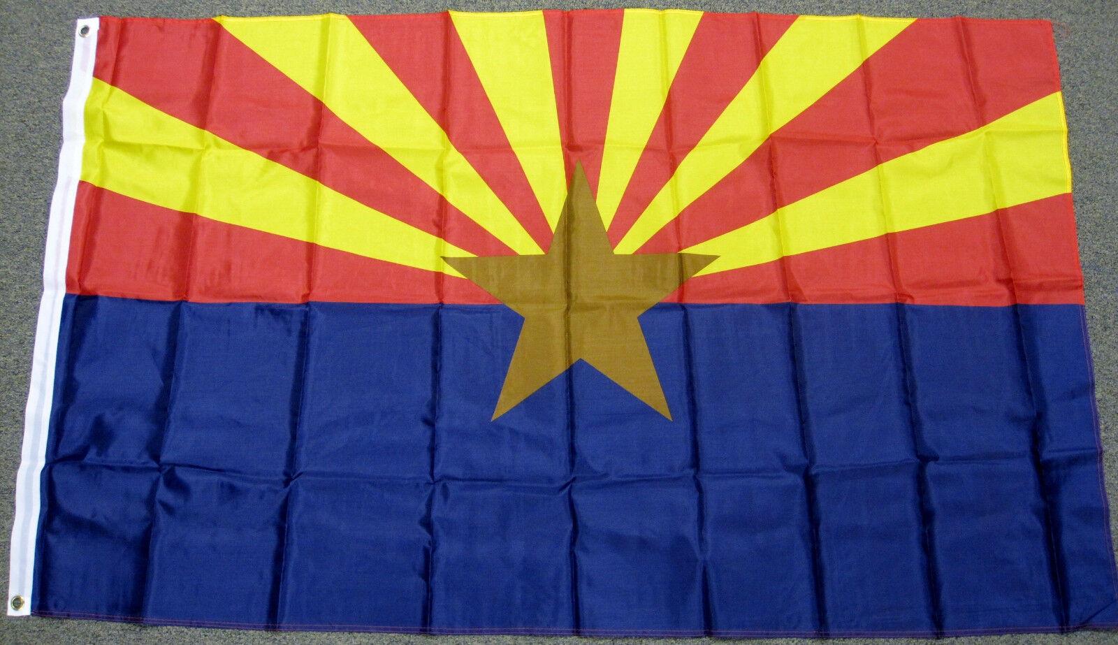 3x5 Polyester Arizona State Flag 3' x 5' AZ Banner US States