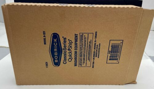 New Bobrick B-221 Stainless Steel Surface Mounted Toilet Seat Cover Dispenser