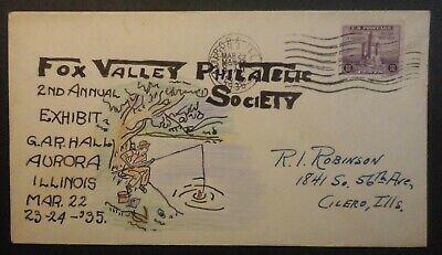 1935 Aurora Illinois Fox Valley Philatelic Society 2nd Annual Exhibit
