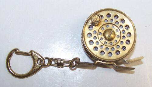 Vintage Working Miniature Brass Fly Fishing Reel Tape Measure Standard Metric