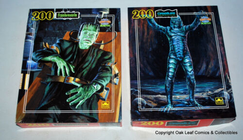 Set 2 Universal Studios Monsters Frankenstein & Creature Golden 200 Piece Puzzle