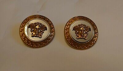 Versace Gold Large Icon Medusa Earrings