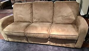 Italian-Style Reclining Suede Couch