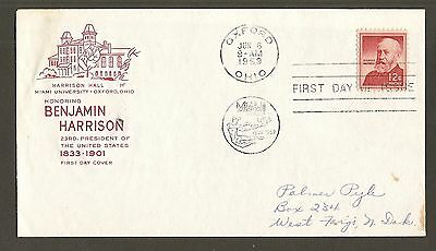 #1045 12c Benjamin Harrison - House of Farnam FDC