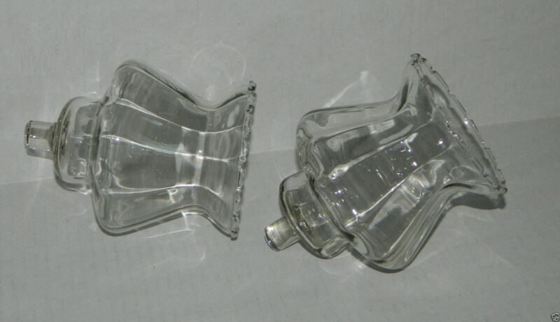 Home Interiors Set of 2 **COUNTRY** Large Clear Glass Votive Candle Holders
