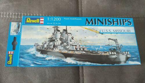 U.S.S. Missouri Revell 06802 Miniship Maßstab 1:1200 in OVP 'Wie Neu'