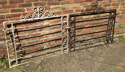 OLD WROUGHT IRON DRIVEWAY GATES - SET 1 OF 3