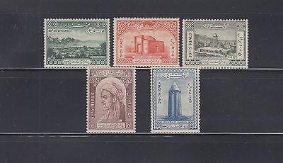 Iran 1964 Avicenna Sc B31-B35  Complete Mint Never Hinged